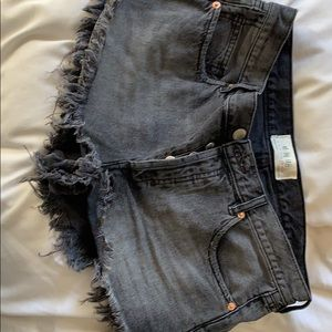Free people black high waisted shorts